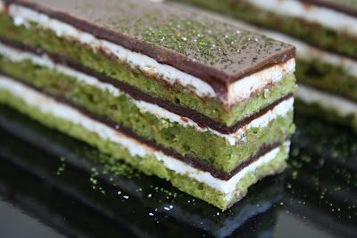Matcha, Lemon and Chocolate Opera Cake :: Cannelle et VanilleCannelle et Vanille