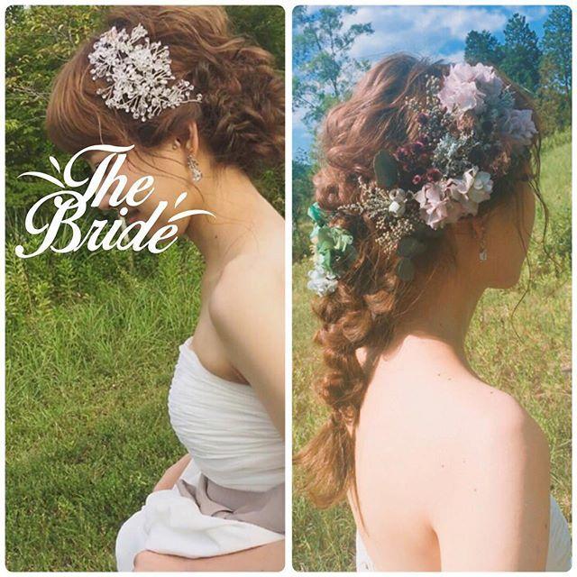 . 前撮りヘア . @fiore_soffitta さんのお花を付けたヘアスタイルがお気に入り 後半からはキラキラを付けてゆるくアップにヘアチェンジしました☺️✨✨ . ヘアアレンジこだわって本当に良かった 本番の髪型はまた違う雰囲気にしたいな . #プレ花嫁#結婚式#結婚式準備#前撮り#前撮りヘア#ロケーションフォト#ヘアアレンジ#ブライダルヘア#ヘッドアクセ#木馬リボン#wedding#bride#flower#11月挙式#ちーむ1127#tgoo花嫁組