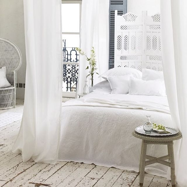 Dreamy White Boho Bedroom ️ Sourced Via Pinterest Please