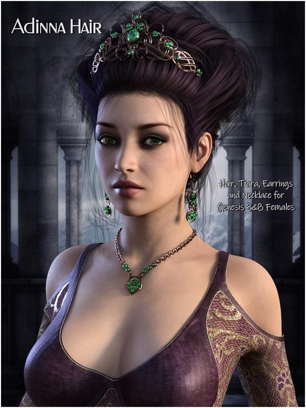 faefef626da Adinna Hair for Genesis 3 and Genesis 8