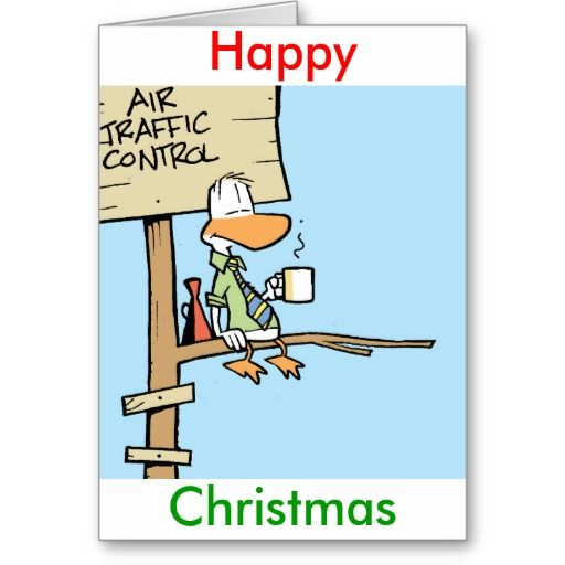 Air Traffic Control Christmas card. Merr Christmas from the tower. $4.30 #airtrafficcontroller #atc #airtrafficcontrol #christmascard