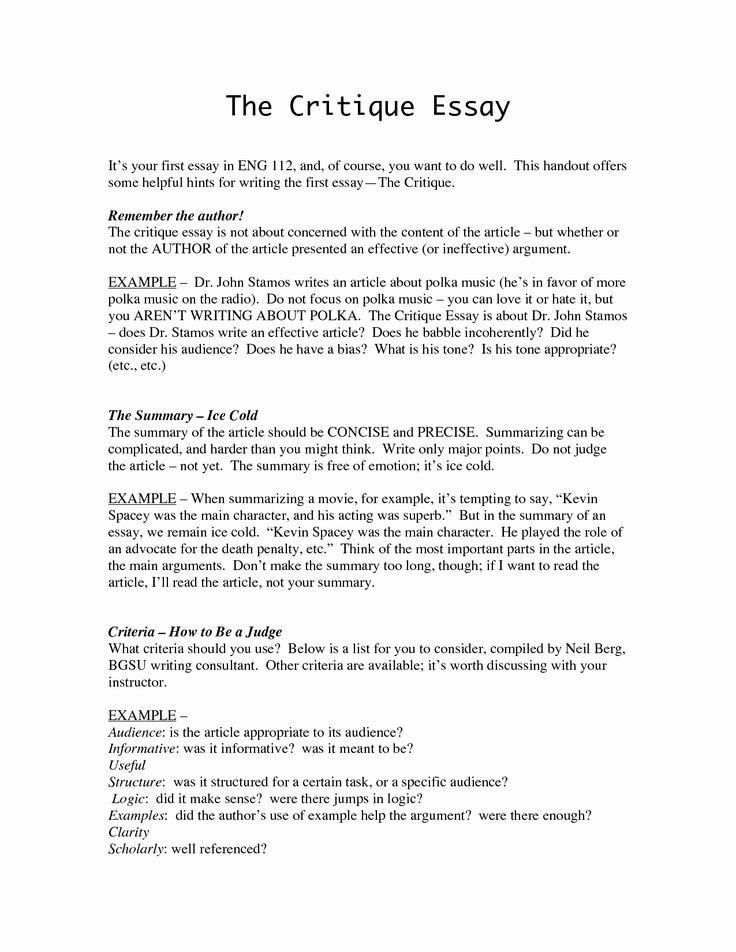 Art institute essay example new 54 critique essay critical