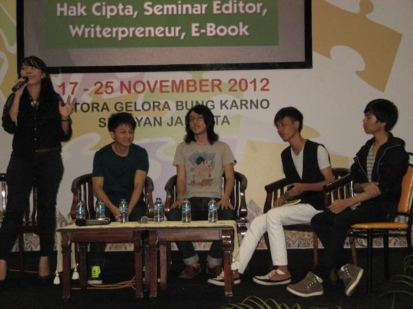 Talk Show dengan Penulis di Panggung Utama INDONESIA BOOK FAIR 18 November 2012
