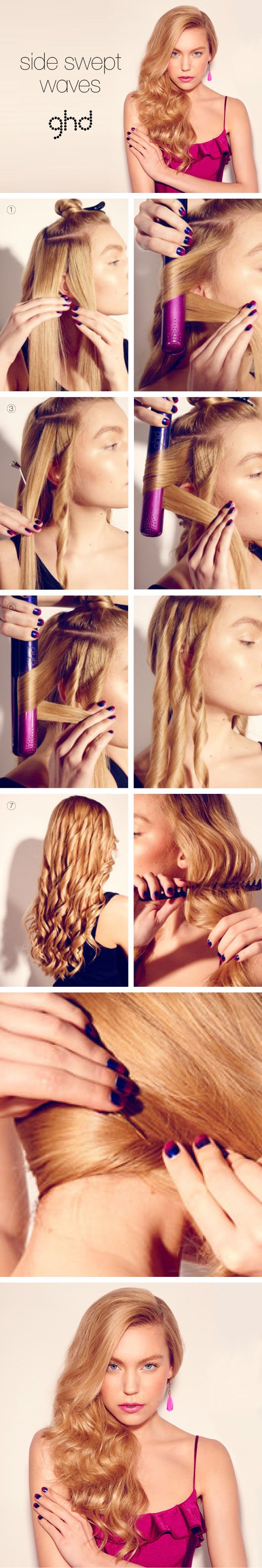HOW-TO HAIRSTYLES: SIDE SWEPT WAVES PARTY TIME? Make an ENTRANCE with the ULTIMATE in sultry SIDE SWEEPS.