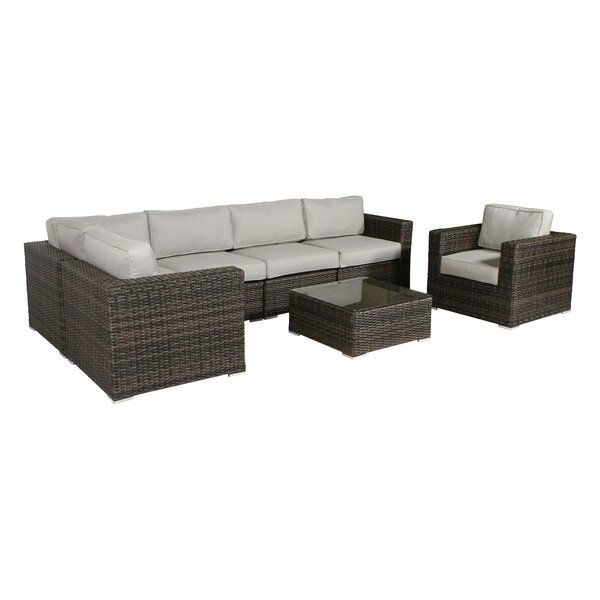 Best Deandra 7 Piece Sectional Seating Group With Cushions In 640 x 480