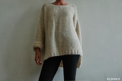 knitted skappelgenser (oversized womens sweater) stickad skappelgenser