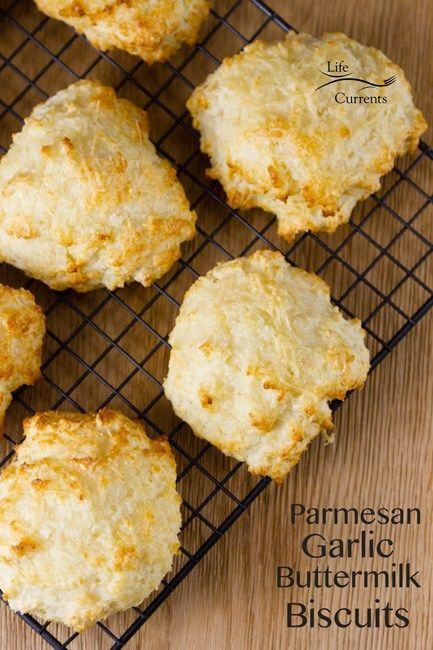Parmesan Garlic Buttermilk Biscuits from Scratch These Parmesan Garlic Buttermilk Biscuits from Scratch are light and fluffy. They are easy to mix together. And, they're even easier to eat!