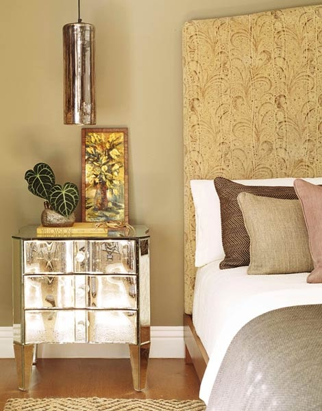 This nightstand is a glow with versatility. Design: Jeff Andrews. Photo: Tim Street Porter