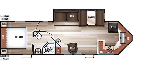 2019 Forest River Cherokee Rv Floor Plans Rv Spotlight Rv Floor Plans Trailer Living Floor Plans