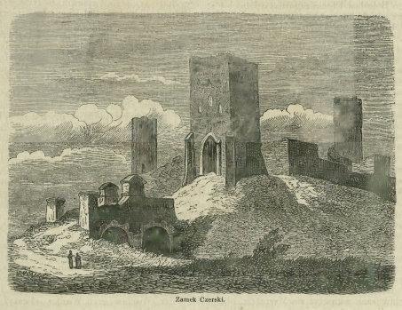 Zamek Czersk, grafika z 1865 r.