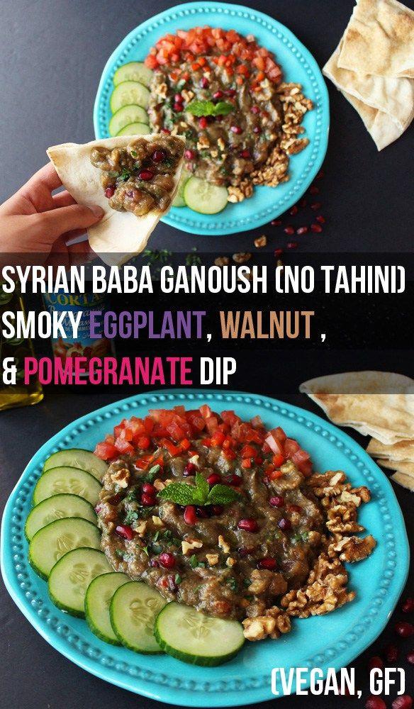 Syrian Baba Ganoush (No Tahini) - Smoky Eggplant & Walnut Dip | Zena 'n Zaatar