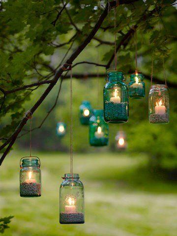DIY lanterns lex - if you do a beach wedding we can borrow their sand haha