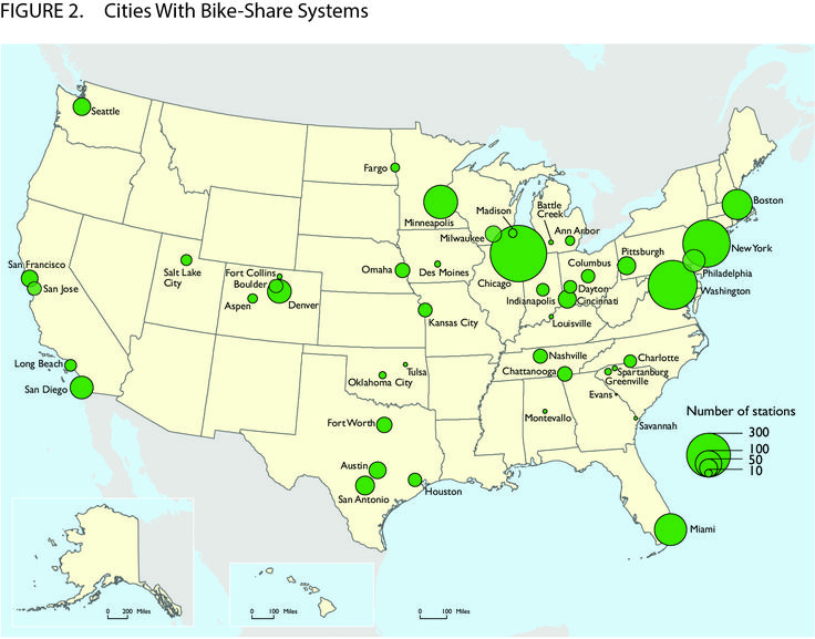 Report On Bike Share Stations In The U S From The Bureau Of Transportation Statistics