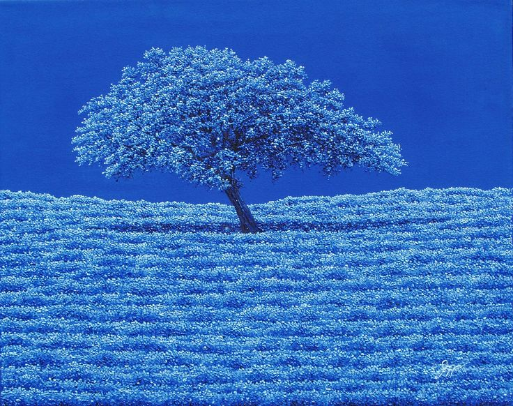 """IN A BLUE WORLD"", 16"" x 20"", oil on canvas.  SOLD."