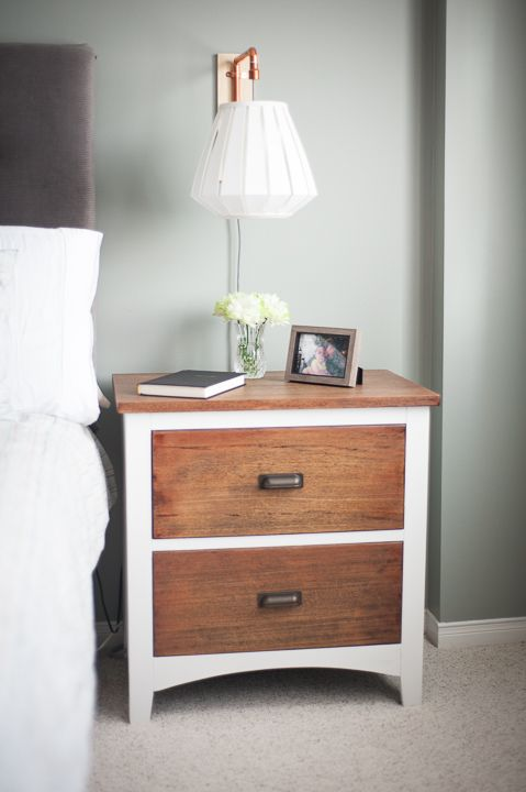 Makeover of my bedside table. Check out my blog to see the before and products used!