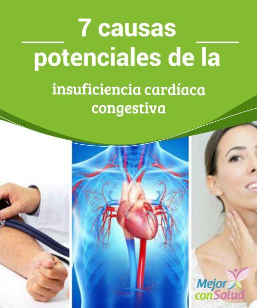 7 causas potenciales de la insuficiencia cardíaca congestiva   La insuficiencia cardíaca congestiva es un trastorno peligroso que puede afectar la calidad de vida. Te compartimos sus 7 causas potenciales.