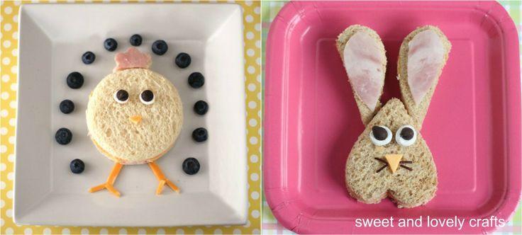 fun Easter sandwiches