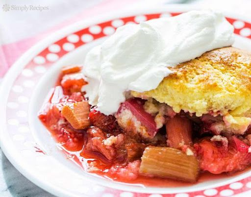 Strawberry rhubarb cobbler