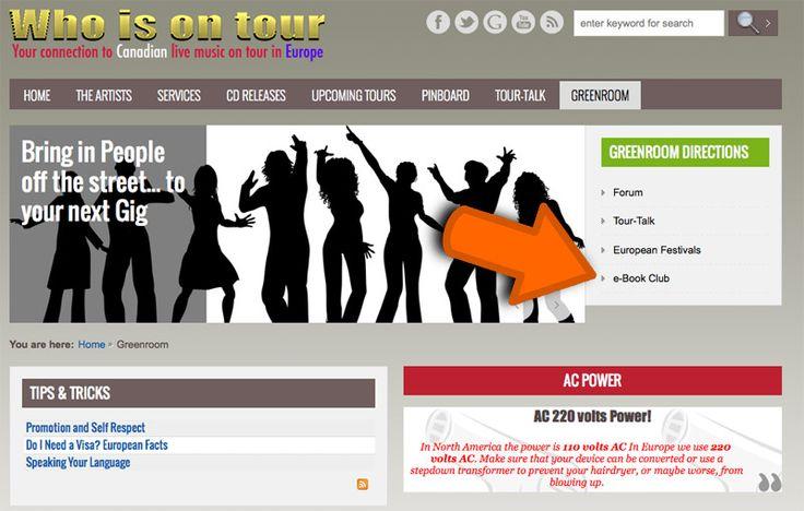 """Website design """"whoisontour.org"""""""