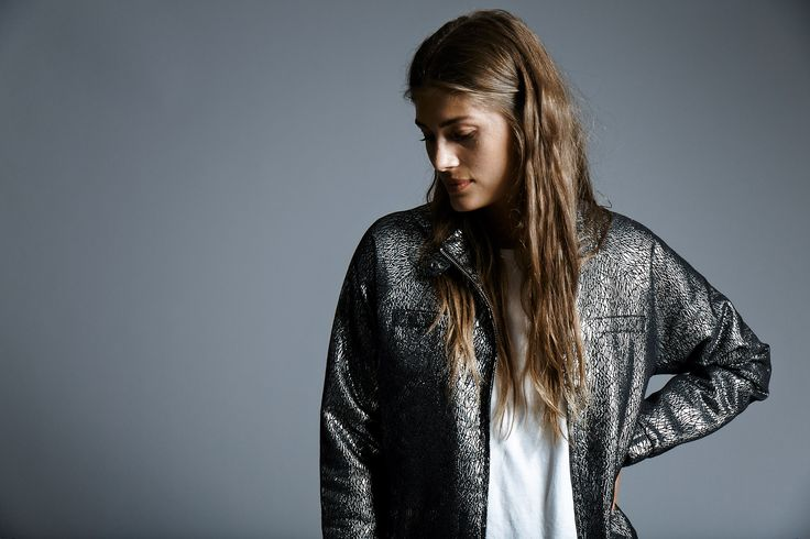 Are you a sucker for the metallic trend?  Then check out this jacket!
