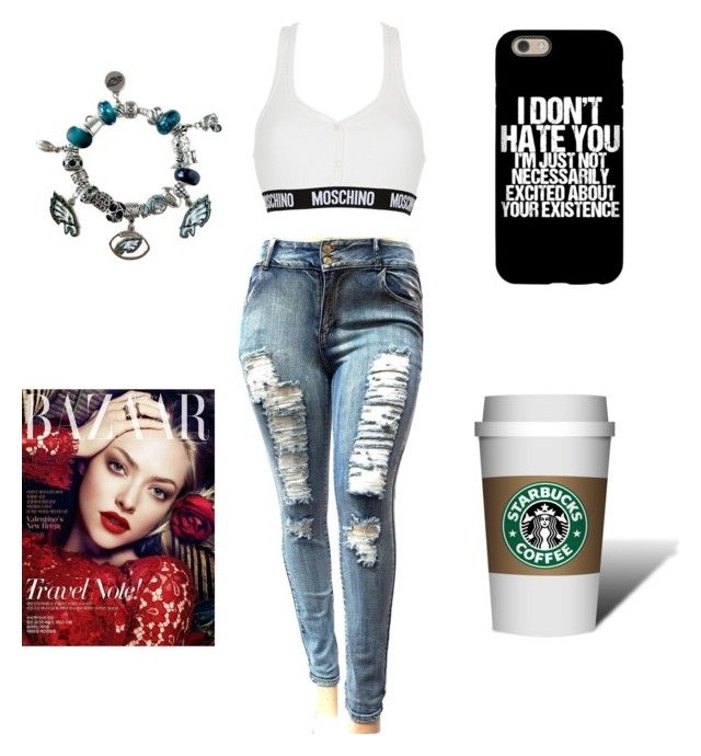 """""""Just..."""" by lifebybya on Polyvore featuring Moschino and Pandora"""