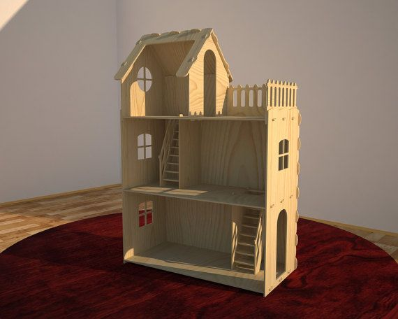Big plywood Doll house. 6mm plywood. Vector model by DxfProjects
