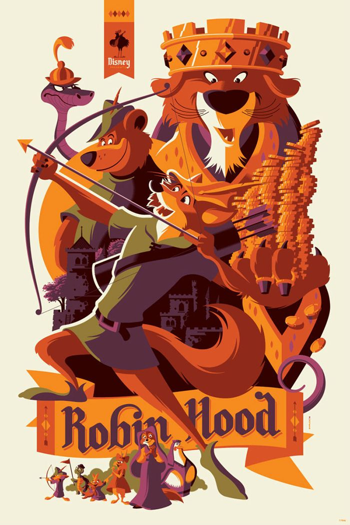 Robin Hood by Tom Whalen - Home of the Alternative Movie Poster -AMP- -Watch Free Latest Movies Online on Moive365.to