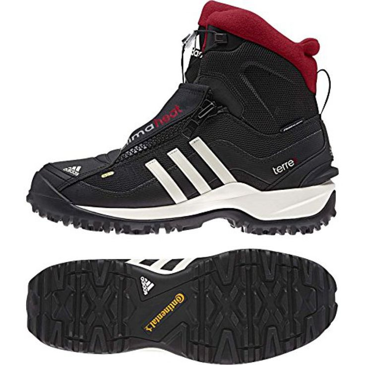 adidas Outdoor Terrex Conrax CP Primaloft Mountaineering Boot – Men's Black/Chalk/University Red – 6.5