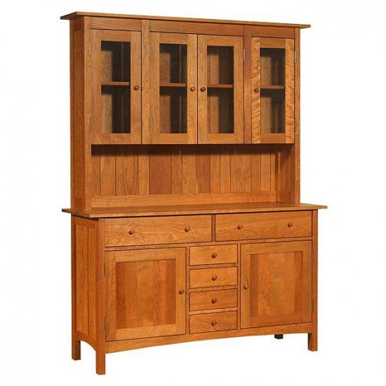 Our Large High End Modern Shaker Buffet And Hutch Is Handcrafted In Vermont Using Premium Mission FurnitureDining Room