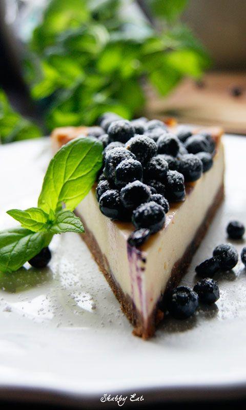 sernik ze świeżymi jagodami / blueberry cheesecake