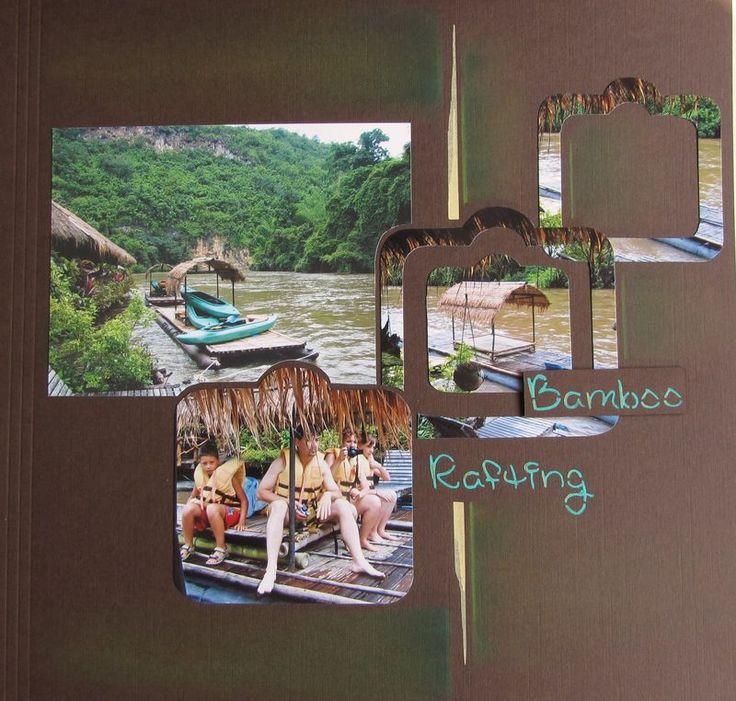 Bamboo rafting sur la rivière Kwai