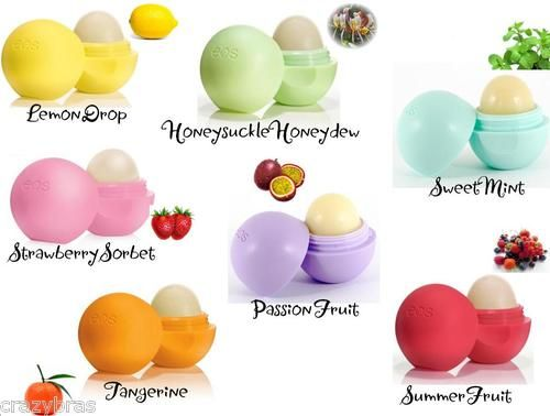 EOS - Sensually Addictive Organic Lip Balm Sphere (7g) - in Five Flavours
