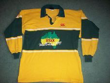 Australia 1991 Wallabies Rugby Union Shirt Top Jersey Adults XL Long sleeved