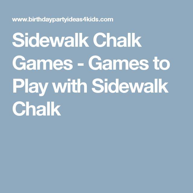 Sidewalk Chalk Games - Games to Play with Sidewalk Chalk