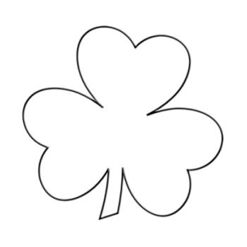 Shamrock Shape Template | Right click on the below Shamrock Template image, and in it's pop-up ...