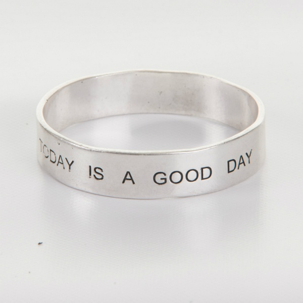 "Bracelet from barfota. ""today is a good day"""