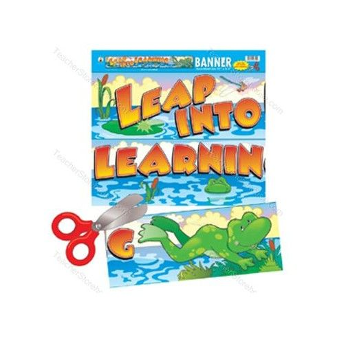 Leap into learning banner CD102003