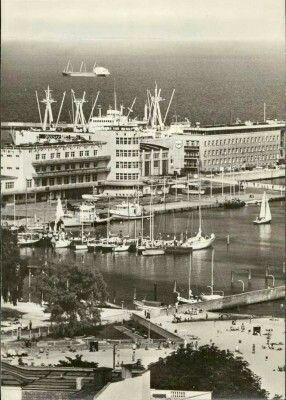 Molo Południowe, basen jachtowy i widok na redę. Fot. Bernd Wurlitzer Lata 80-te
