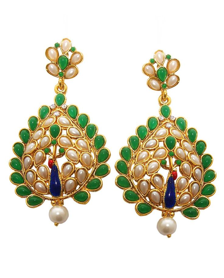 Best for wedding & engagement, Kriaa Multicolor Meenakari Pearl Peacock Drop Gold Plated Dangle Earrings @ Rs. 345/- Buy now at http://www.jewelmaze.in/product/AAA0490/Earrings/Kriaa-Multicolor-Meenakari-Pearl-Peacock-Drop-Gold-Plated-Da/?pd=EGL#.VtbBiH197IV