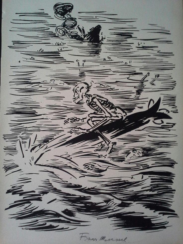 Frans Masereel (1889-1972) Woodcut Hand-Signed / Fametszet,aláírt. Mihály Gyűjtemény