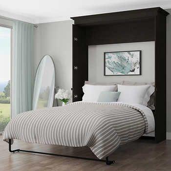 Best Bestar Evolution Grey Queen Wall Bed Wall Bed Bed 640 x 480