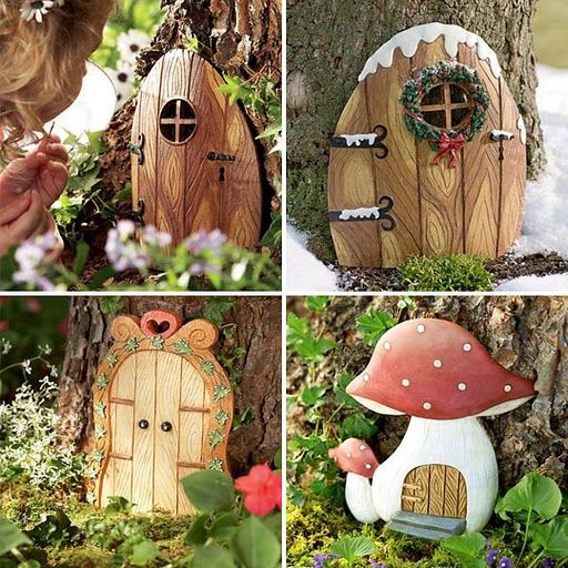 Fairy doors for the yard