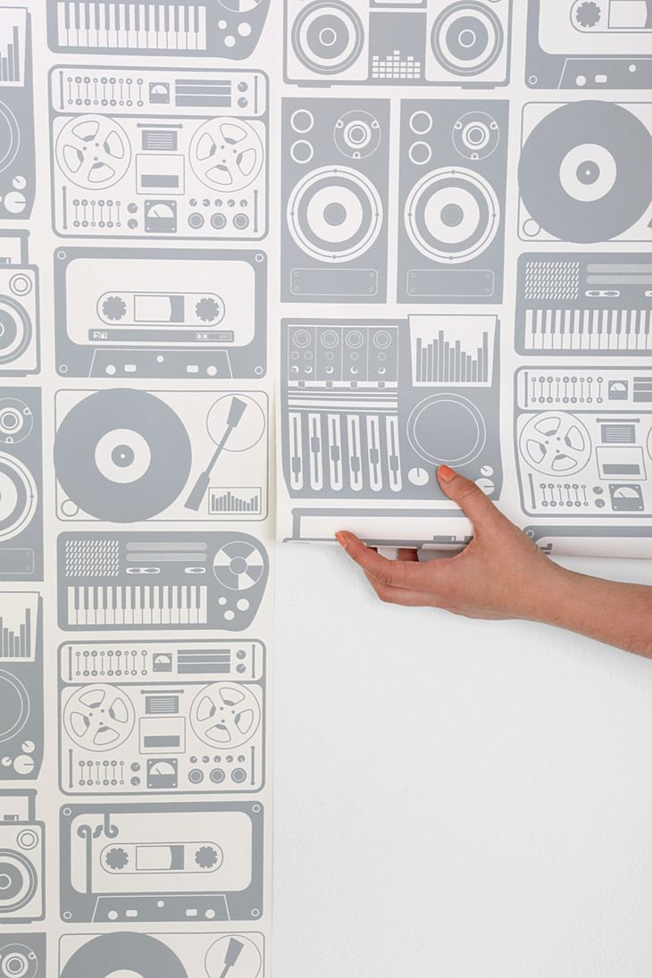 Would definitely want this for the accent wall in Matt's music room.