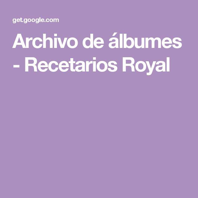 Archivo de álbumes - Recetarios Royal