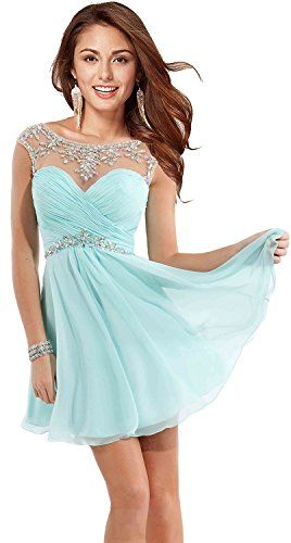 ccb46795ab7b Butmoon Womens Sexy Short Prom Dresses Homecoming Dresses for Juniors Aqua  US2 Buy New: $59.99 | Getting Ready For The Prom in 2018 | Pinterest | Prom  ...