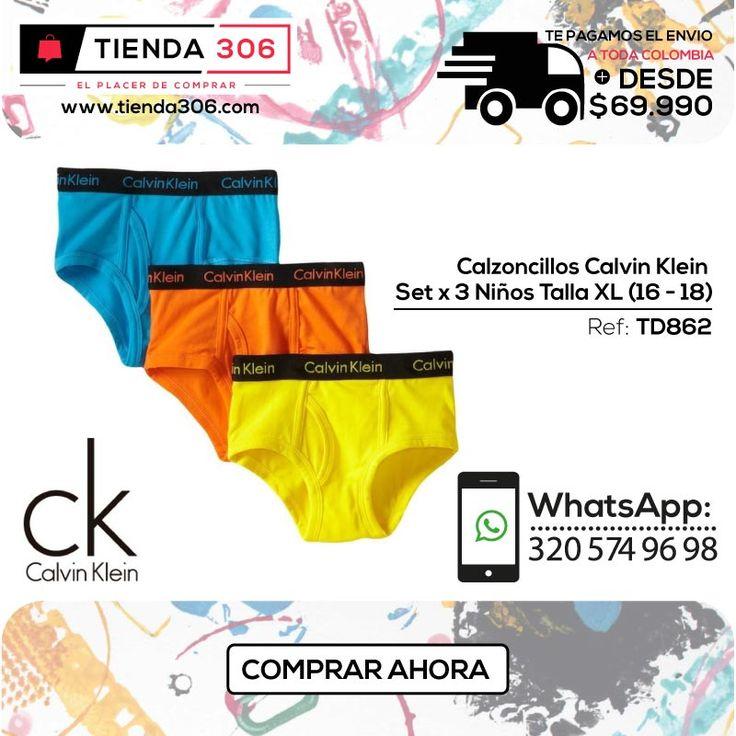 Variedad de color y estilo - Calzoncillos Calvin Klein Set x 3 Ref.: TD862 📞 +57 320 574 96 98 Ver Ahora http://bit.ly/2f1qGCe