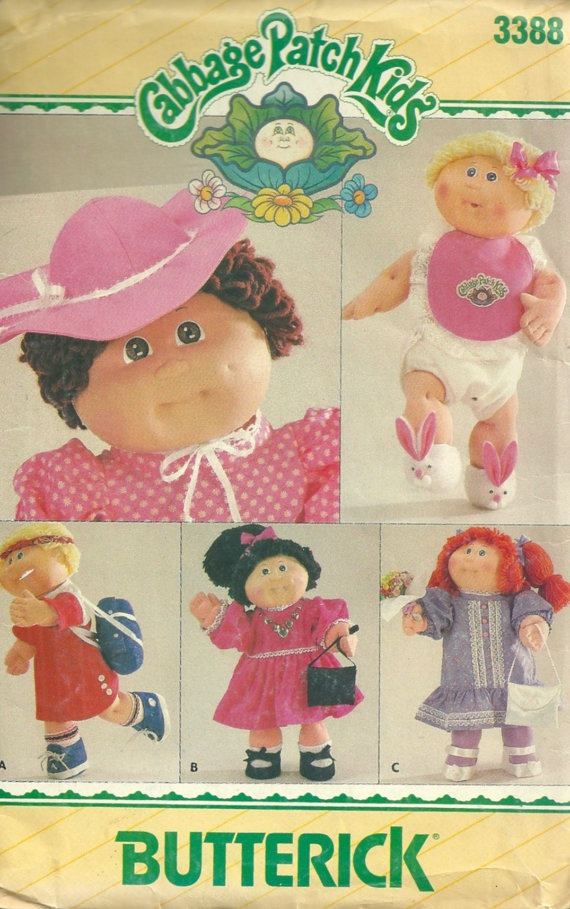 1980s Butterick 3388 Cabbage Patch Kids Doll Accessories - Vintage Sewing Pattern by mbchills