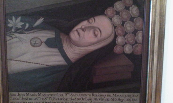 Victorino Garcìa Romero (atribuido) Ines de Masustegui del santisimo sacramento  Ca. 1809 Olea sobre tela