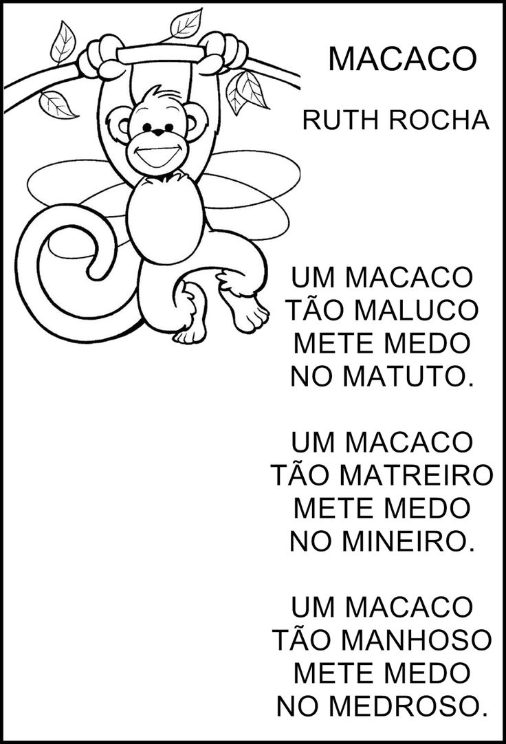 Poesia O Macaco - Ruth Rocha                                                                                                                                                      Mais