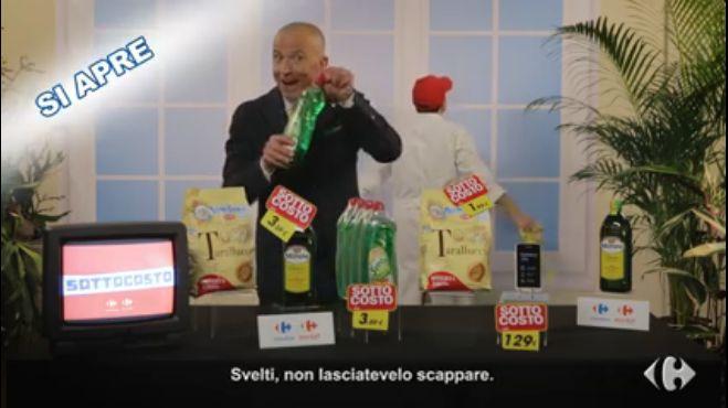 """La campagna """"Sottocosto"""" di Carrefour Italia lancia le televendite social ed il protagonista è Giorgio Mastrota"""